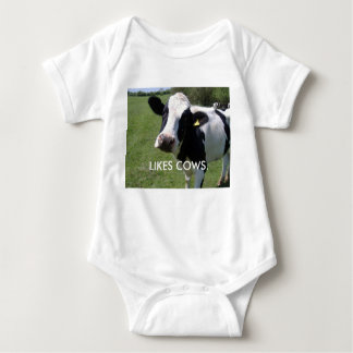 LIKES COWS BABY BODYSUIT