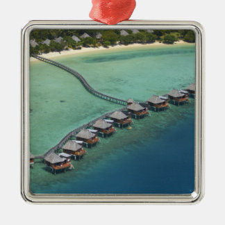 Likuliku Lagoon Resort, Malolo Island, Fiji Silver-Colored Square Decoration