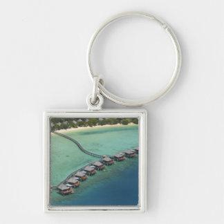Likuliku Lagoon Resort, Malolo Island, Fiji Silver-Colored Square Key Ring