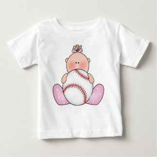 Lil Baseball Baby Girl Baby T-Shirt