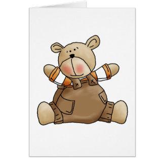 Lil Bears · Baby Boy Brown Romper Greeting Card