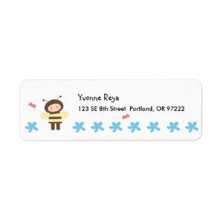 Lil' Bee Return Address Label