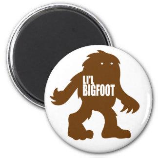 LI'L BIGFOOT Adorable Logo - Cute Brown Sasquatch Magnet