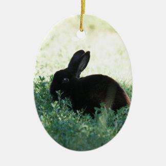 Lil Black Bunny Christmas Ornament