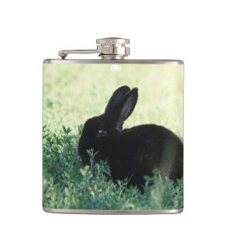 Lil Black Bunny Hip Flask