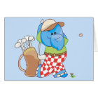 Lil Blue Elephant Golfing Card