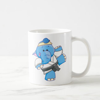 Lil Blue Elephant Karate Coffee Mug