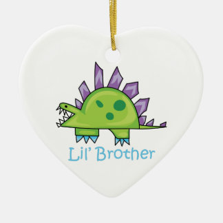 Lil Brother Ceramic Heart Decoration