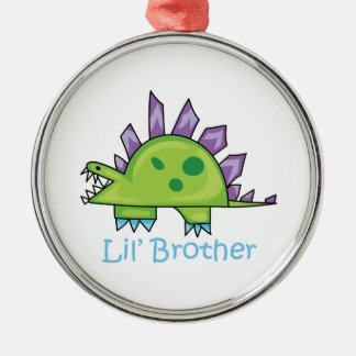 Lil Brother Silver-Colored Round Decoration