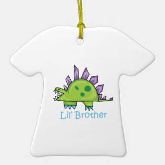 Lil Brother Double-Sided T-Shirt Ceramic Christmas Ornament
