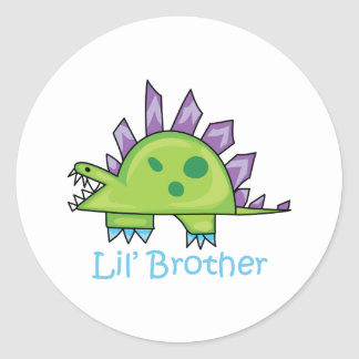 Lil Brother Round Sticker