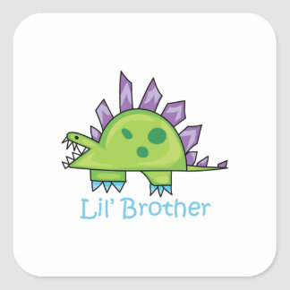 Lil Brother Square Sticker