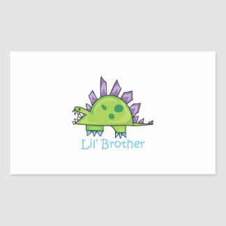 Lil Brother Rectangle Stickers