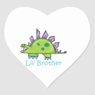 Lil Brother Heart Sticker