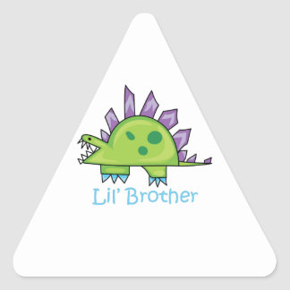 Lil Brother Triangle Sticker