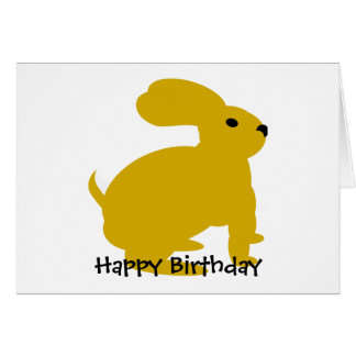 Lil Brown Bunny Rabbit Greeting Card