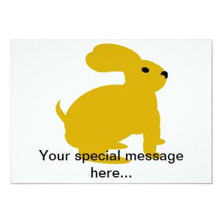 Lil Brown Bunny Rabbit 13 Cm X 18 Cm Invitation Card
