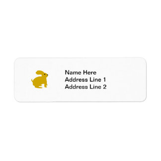 Lil Brown Bunny Rabbit Return Address Label