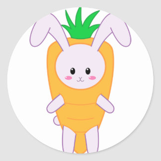 Lil Bunny - Carrot Classic Round Sticker