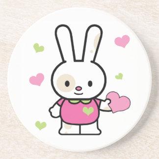 Lil Bunny Girl Sandstone Coaster