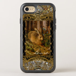Lil Bunny in the Garden Girly Monogram OtterBox Symmetry iPhone 8/7 Case