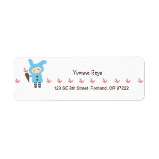 Lil' Bunny Return Address Label