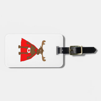 Lil Canadian Eh? Moose Luggage Tag