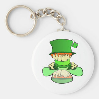 Lil Charmer Basic Round Button Key Ring