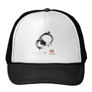 Lil Chick, Sumi-e by Andrea Erickson Trucker Hats