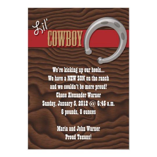 Lil' Cowboy Card