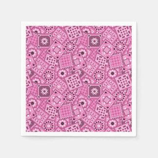 Lil' Cowgirl Baby Shower Pink Bandanna Napkins Paper Serviettes