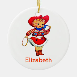 Lil Cowgirl (Customizable) Birth Ornament