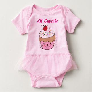 Lil' Cupcake Jumper with Frills Baby Bodysuit