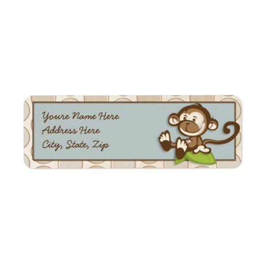 Lil Cute Monkey Address Labels