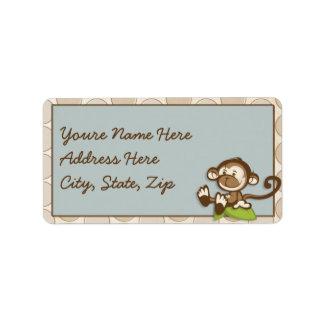 Lil cute Monkey Address Lables Address Label