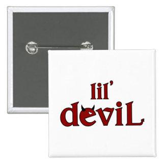 lil' devil 2 15 cm square badge