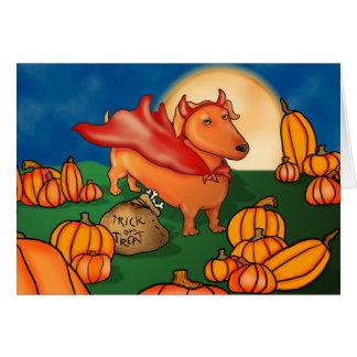 Lil Devil Dachshund Greeting Card