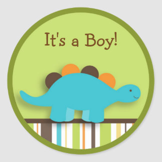 Lil Dino Dinosaur Stickers Envelope Seals