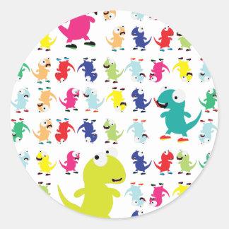 Lil Dino Lizards Round Sticker