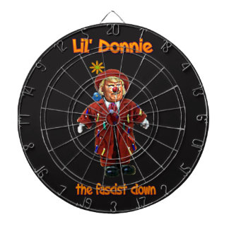 Lil' Donnie the fascist clown dartboard