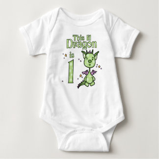 Lil Dragon 1st Birthday Baby Bodysuit