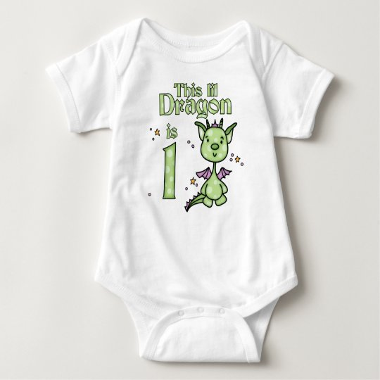 Lil Dragon 1st Birthday Baby Bodysuit