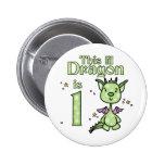 Lil Dragon 1st Birthday Pins