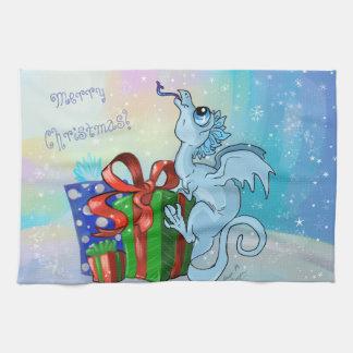 lil' Dragon Snowflake Tea Towel