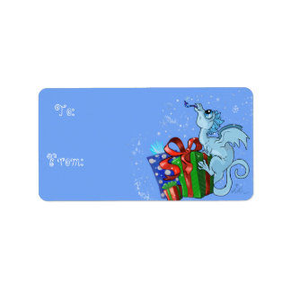 lil' Dragon Snowflake To and From Gift Label