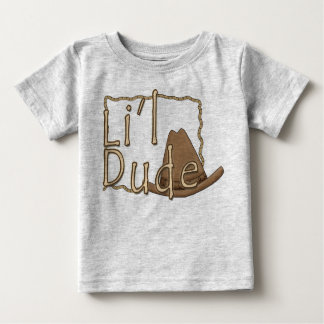 Li'l Dude Little Western Cowboy Baby T-Shirt