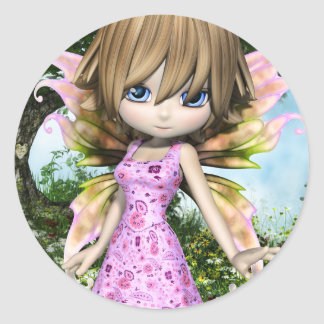 Lil Fairy Princess Classic Round Sticker