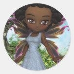 Lil Fairy Princess Round Stickers