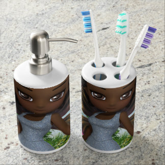 Lil Fairy Princess Soap Dispenser And Toothbrush Holder