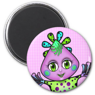 Lil' Fay the Octopus 6 Cm Round Magnet